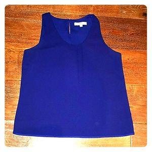 Ann Taylor Loft Tank Camisole Blouse Cobalt Blue